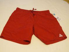 Obey Propaganda Worldwide Trail shorts swim surf trunks L RARE Men's red #ModernAmusement #BoardSurf