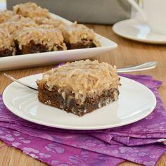 German Chocolate Brownies via Sweet Pea's Kitchen