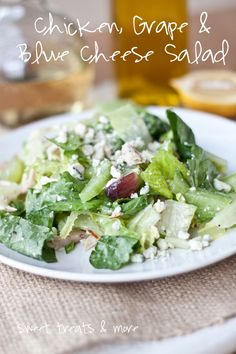 Chicken, Grape & Blue Cheese Salad from @Kristy Denney - Sweet Treats & More