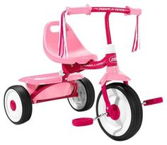 Radio Flyer Girls' Fold 2 Go Trike  $43.49 & Free Shipping