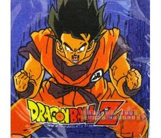 16 DRAGON BALL Z LUNCH NAPKINS ~ Birthday Party Supplies Large Serviettes Boys