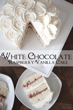 Wedding Cake Recipes White Chocolate Raspberry Vanilla Cake {Gluten Free} // - White Chocolate Raspberry Vanilla Cake is the perfect way to satisfy all of your guests. It's gluten free and so incredibly delicious no one will ever know! Best Gluten Free Cake Recipe, Gluten Free Sweets, Gluten Free Cakes, Gluten Free Chocolate, Gluten Free Vanilla Cake, White Chocolate Raspberry Cake, Chocolate And Vanilla Cake, Chocolate Cupcakes, Raspberry Cake Filling