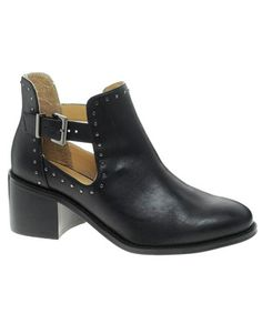 Cut Out Ankle Bootie   River Island Stud Cut Out Ankle Boots « SHEfinds