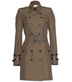 Burberry Leather-trimmed trench coat on shopstyle.com