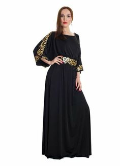 This classy and elegant offering by Xela is the perfect addition to your party wear wardrobe! It features a soft and flowy Neda fabric with Arabic prints across the shoulder and waist hem plus a detachable belt that adds tons of glamour and feminine appeal to the any woman.