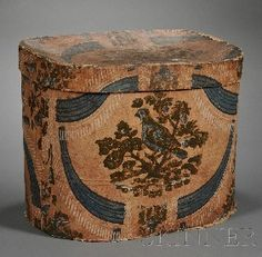 beautiful antique band box