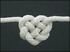 How to tie a Celtic Heart Knot (as well as others). Possible Valentine necklace, bracelet, gift wrap...