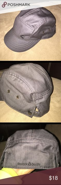 Reebok Crossfit cadet military hat cap trucker Brand new without tags! Charcoal grey authentic reebok crossfit hat. Adjustable button snaps in back. One size fits most reebok crossfit Accessories Hats