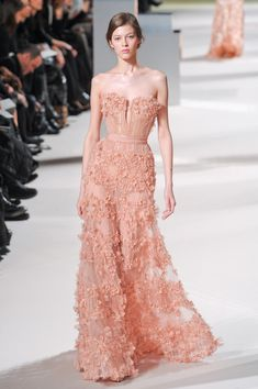 Elie Saab at Couture Spring 2011 - StyleBistro- love this color