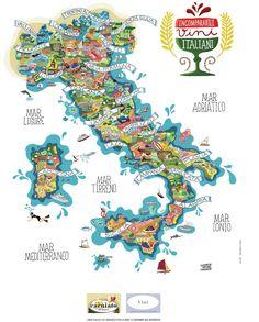 Итальянские вина на туристической карте Италии