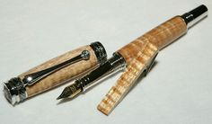 Curly Koa Fountain Pen Black Majestic Junior Hawaii FREE WHITE KOA TIE BAR in Collectibles, Pens & Writing Instruments, Pens | eBay