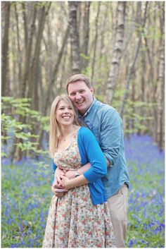 Lisa & Owen's Bluebell Engagement Shoot | Kent Wedding Photographer | Rebecca Douglas Photography