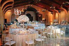 Blush Botanicals floral design, wedding reception in Capella Ballroom.  Coordination by Joie De Vivre Events at the Grand Del Mar