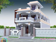 6 bedroom, 3400 sq-ft decorative home plan (Kerala home design) House Front Wall Design, Village House Design, Kerala House Design, Simple House Design, Bungalow House Design, Modern House Design, Casas California, 2bhk House Plan, Flat Roof House