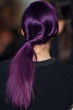 my purple pony - looped pony tail