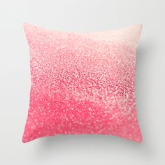 CORAL Throw Pillow by Monika Strigel | Society6