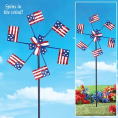Patriotic American Flag Spinner