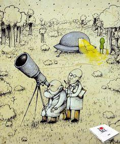 #ilustración #alíen #ovni