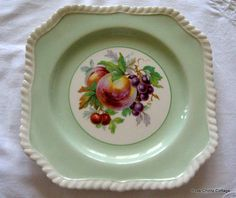 johnson bros dishes vintage square green plate with fruit center by bros johnson bros turkey dishes Johnson Brothers China, Johnson Bros, Antique China, Vintage China, Green China, Green Plates, Turkey Dishes, China Sets, China Plates