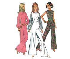 Mod+1960s+Jumpsuit+Pattern+Pantdress+Wiide+by+MaddieModPatterns,+$9.95