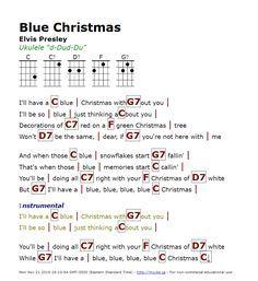 Captured with Lightshot Ukulele Songs, Guitar Chords, Christmas Chords, Blue Christmas, Elvis Presley, Language, Sayings, Learning, Music