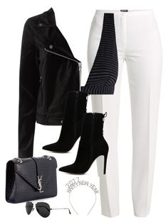 """""""Untitled #2919"""" by theaverageauburn on Polyvore featuring Basler, Zimmermann, Paige Denim, ALDO, Yves Saint Laurent and Ray-Ban"""