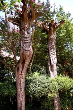 Jangseung(Totem Pole), Korea.  A jangseung or village guardian is a Korean totem pole usually made of wood. Jangseungs were traditionally placed at the edges of villages to mark for village boundaries and frighten away demons.