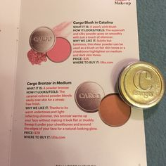Cargo cosmetics blush and bronzer duo Cargo blush in Catalina and cargo bronzer in medium duo.  0.105 oz.  Perfect condition, never used. I always have 20% discount of 2+items so bundle!  And follow me on Instagram @shoefashionlove.  If you are interested, bundle and buy fast, a lot of my stuff sells fast! Cargo Makeup Bronzer