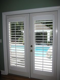 plantation shutters on french doors - Google Search