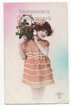 orange dress little girl