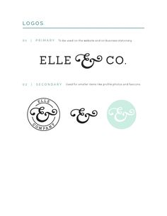 ISSUU - Elle & Company Brand Style Guide by Elle & Company