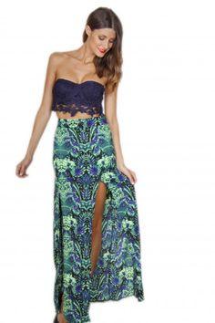Dreamer Maxi Skirt- Bright Green