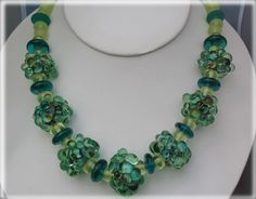 Lampworked Glass Bead Necklace. $385.00, via Etsy.