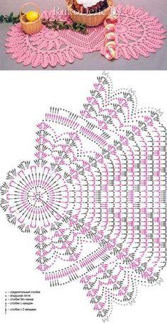 New crochet table runner flower doily patterns ideas Crochet Circle Pattern, Crochet Table Runner Pattern, Free Crochet Doily Patterns, Crochet Circles, Crochet Motif, Crochet Designs, Knit Crochet, Filet Crochet, Crochet Chart