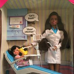 This is Dr. Curry's dentist Barbie