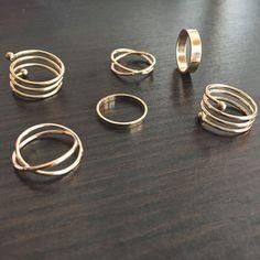 Boho Chic Ring Set