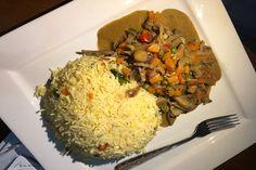 Ku koyi yadda ake hadin shinkafa da vegetable sauce Grains, Rice, Vegetables, Food, Meal, Eten, Vegetable Recipes, Meals, Veggies