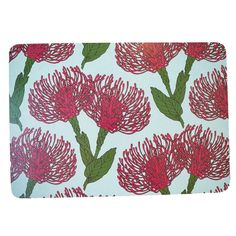 These beautiful placemats are made using durable melamine and are able to weather the strongest curries or messiest spaghetti fights. They are unique and stylis Pink Leaves, English House, Pin Cushions, Placemats, Tapestry, Colours, Supreme, Cream, Hanging Tapestry