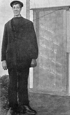 """Frederic John Kempster (1889, Bayswater, London (UK)—1918, Blackburn (UK))–was also known as """"the Blackburn Giant"""" or """"The Gentle Essex Giant"""" or """"Frederick the Great"""""""