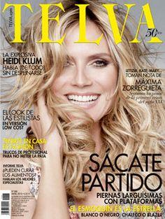 La modelo alemana Heidi Klum en la portada de la revista Telva