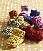 Loving these cute baby booties.  The pattern says it is an easy level pattern.....not true! Still working on it!