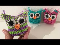Rainbow Loom Nederlands, uiltje amigurumi, loomigurumi, hook only - YouTube