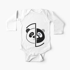 Panda Head, Baby Onesie, Simple Dresses, One Piece, Printed, Awesome, Fabric, Clothes, Color