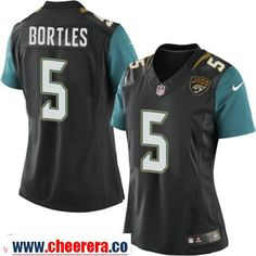 Women's Jacksonville Jaguars #5 Blake Bortles Black Alternate Stitched NFL Nike Game Jersey