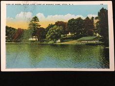 Early 1900s Round Lake Camp of Masonic Home, Utica, NY postcard