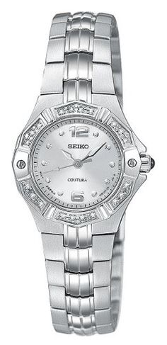 Seiko Women's SXGN25 Coutura Diamond Silver-Tone Watch ** For more information, visit image link.(It is Amazon affiliate link) #WearIT