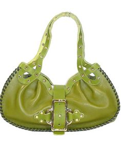 Jimmy Choo Olive Leather Handbag