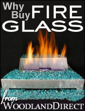 Have a smokeless fire by using this awesome fire glass that doesn't melt or emit toxic chemicals, but mostly...it's pretty!  And cheap! And no more avoiding the smoke from a wood fire!