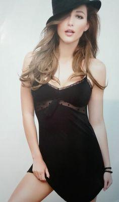 4b886f76d2de Sottoveste sexy lingerie Antigel Lise Charmel shop 2016 donna nero con pois