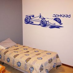 Formula 1 personalized race car wall decal
